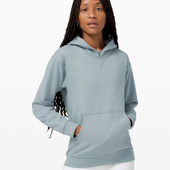 LULULEMON all yours hoodie pullover blue nwot 14